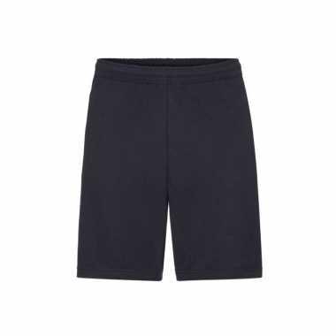 Donkerblauwe shorts / korte joggingbroek voor heren