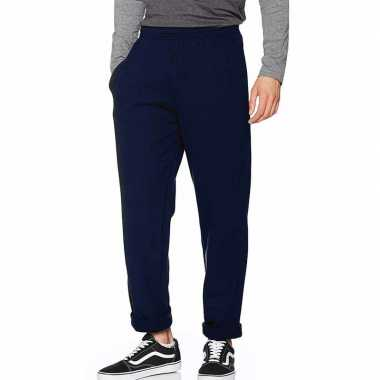 Joggingbroek fruit of the loom donkerblauw voor volwassenen straight