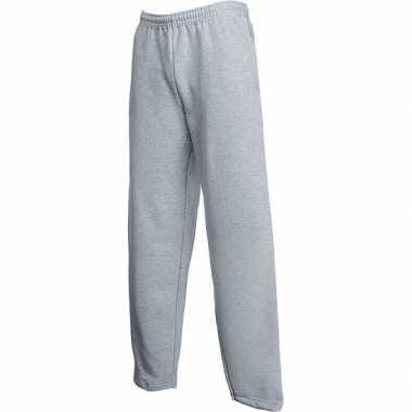 Joggingbroek fruit of the loom grijs voor volwassenen straight leg