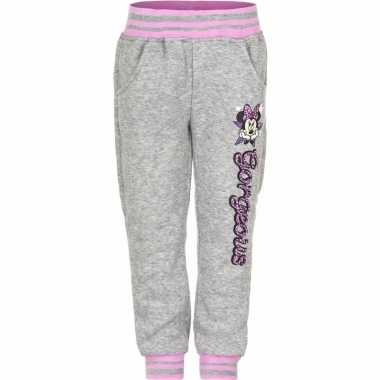 Minnie mouse joggingbroek grijs