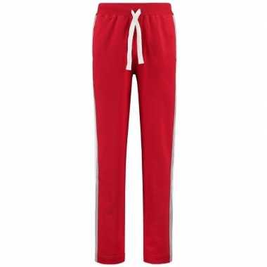 Rode joggingbroek/huisbroek met streep voor heren