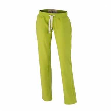 Vintage joggingbroek lime groen voor heren