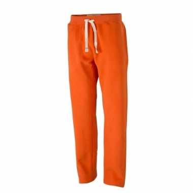 Vintage joggingbroek oranje voor heren 10040029