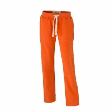 Vintage joggingbroek oranje voor heren