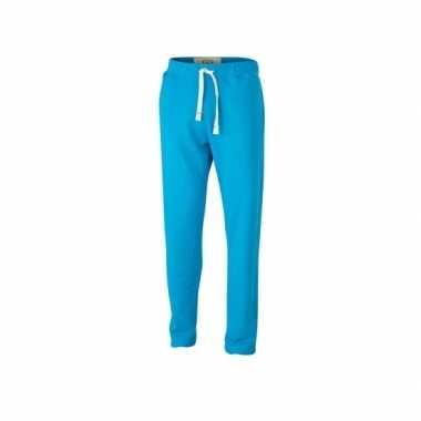 Vintage joggingbroek turquoise voor heren 10077946