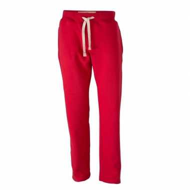 Vintage joggingbroek voor heren rode