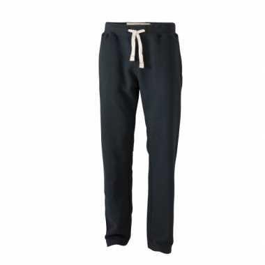 Vintage joggingbroek voor heren zwarte