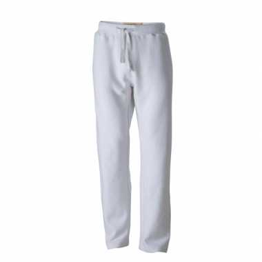 Vintage joggingbroek wit voor heren