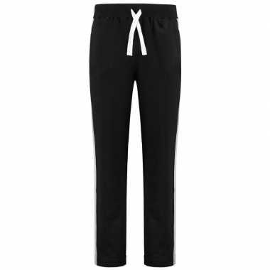 Zwarte joggingbroek/huisbroek met streep voor heren