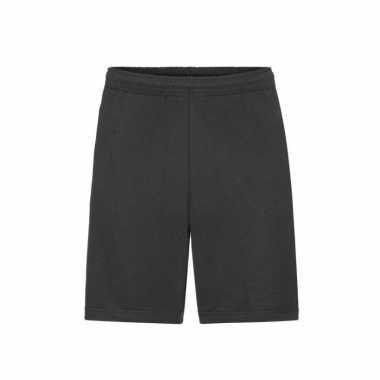 Zwarte shorts / korte joggingbroek voor heren